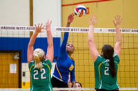 West vs Janesville Parker Girls Volleyball October 6, 2016